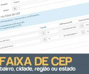 Frete por CEP ou faixa de CEP no Opencart